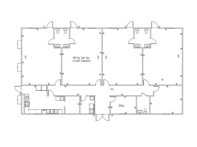 Education for Preschool floor plans
